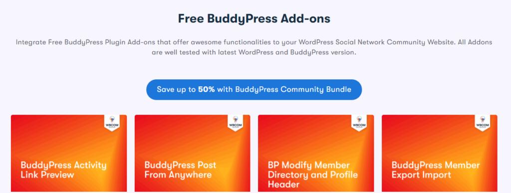 Free BuddyPress Addons