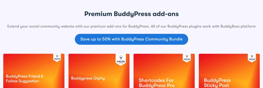 Premium BuddyPress add-ons