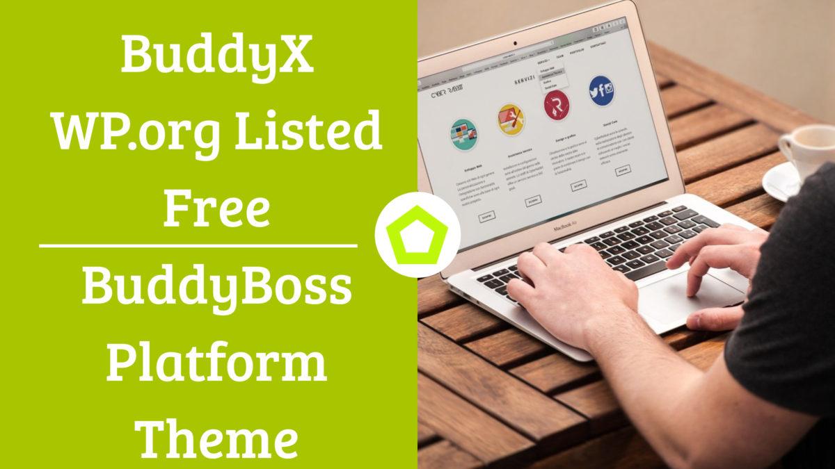 BuddyX WP.org Listed Free BuddyBoss Platform Theme