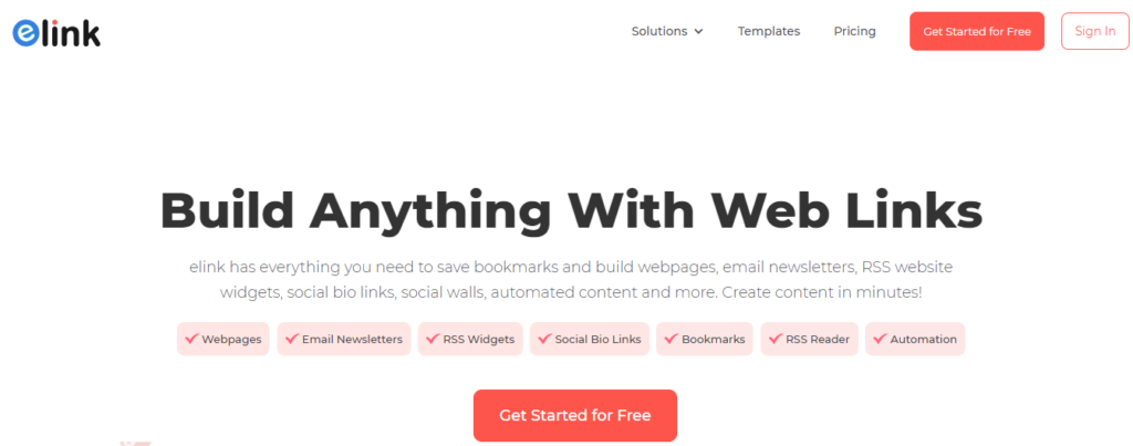 Elink - Content Creation and Curation SaaS Tool