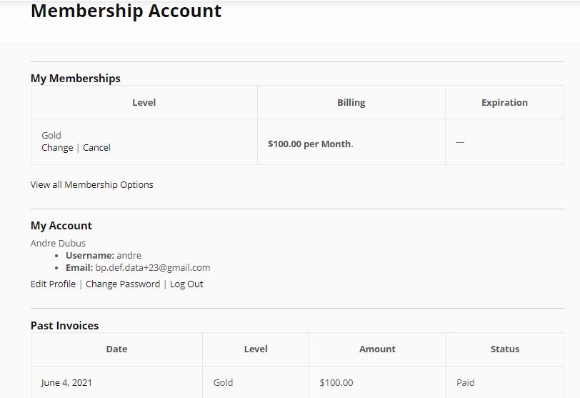 membership account - Wbcom Designs
