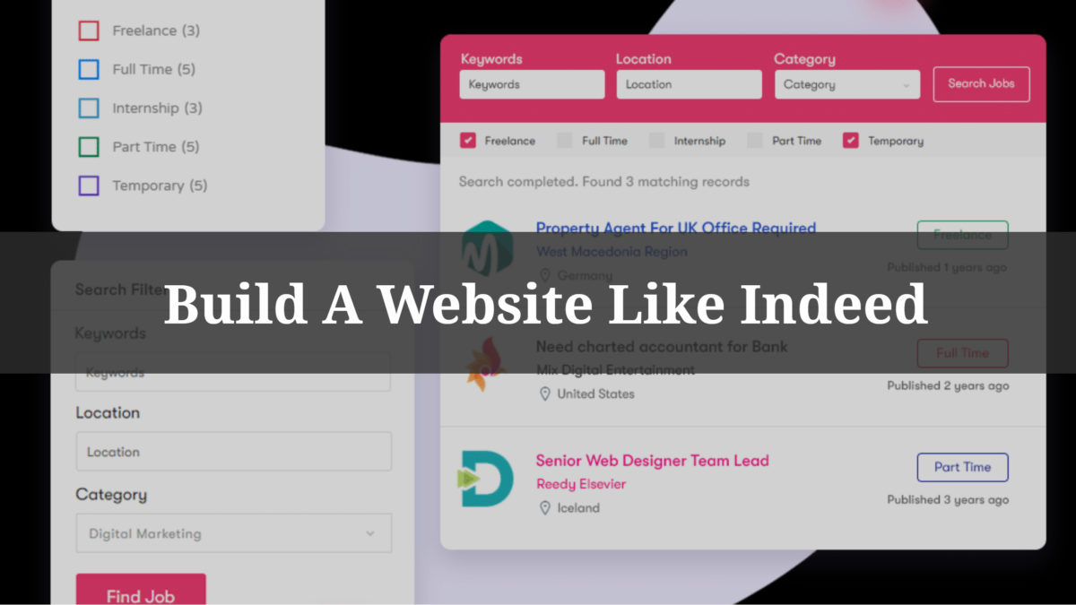 Build A Website Like Indeed
