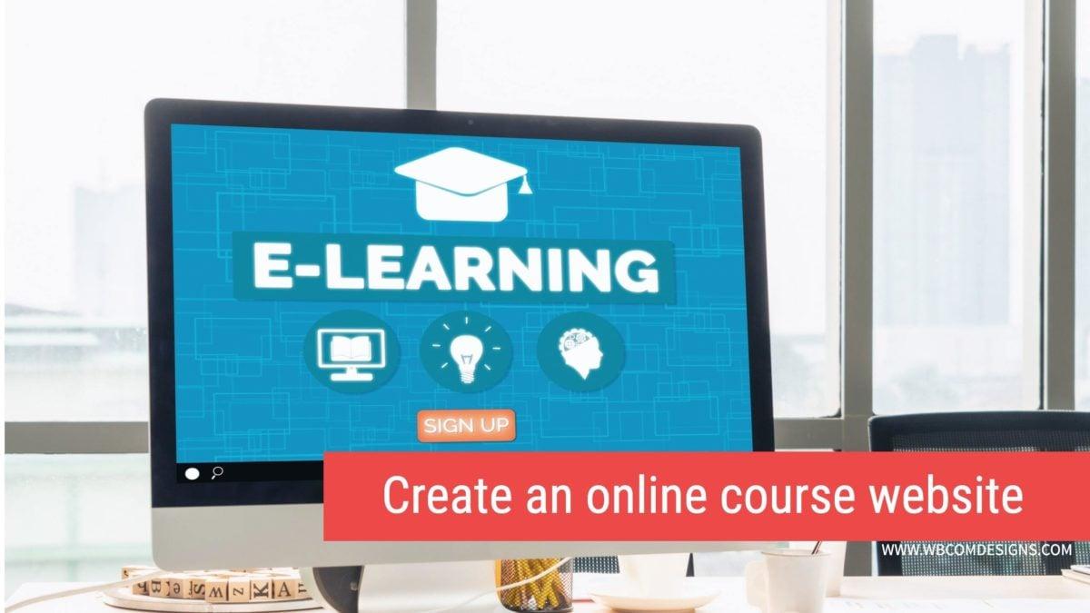 online course website with WordPress