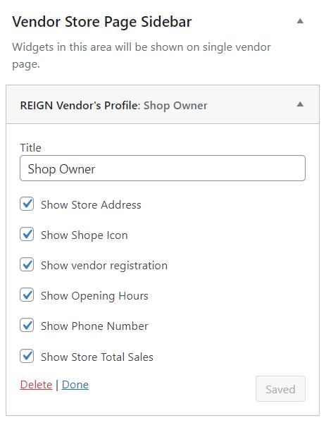 Reign WC Vendors Widget