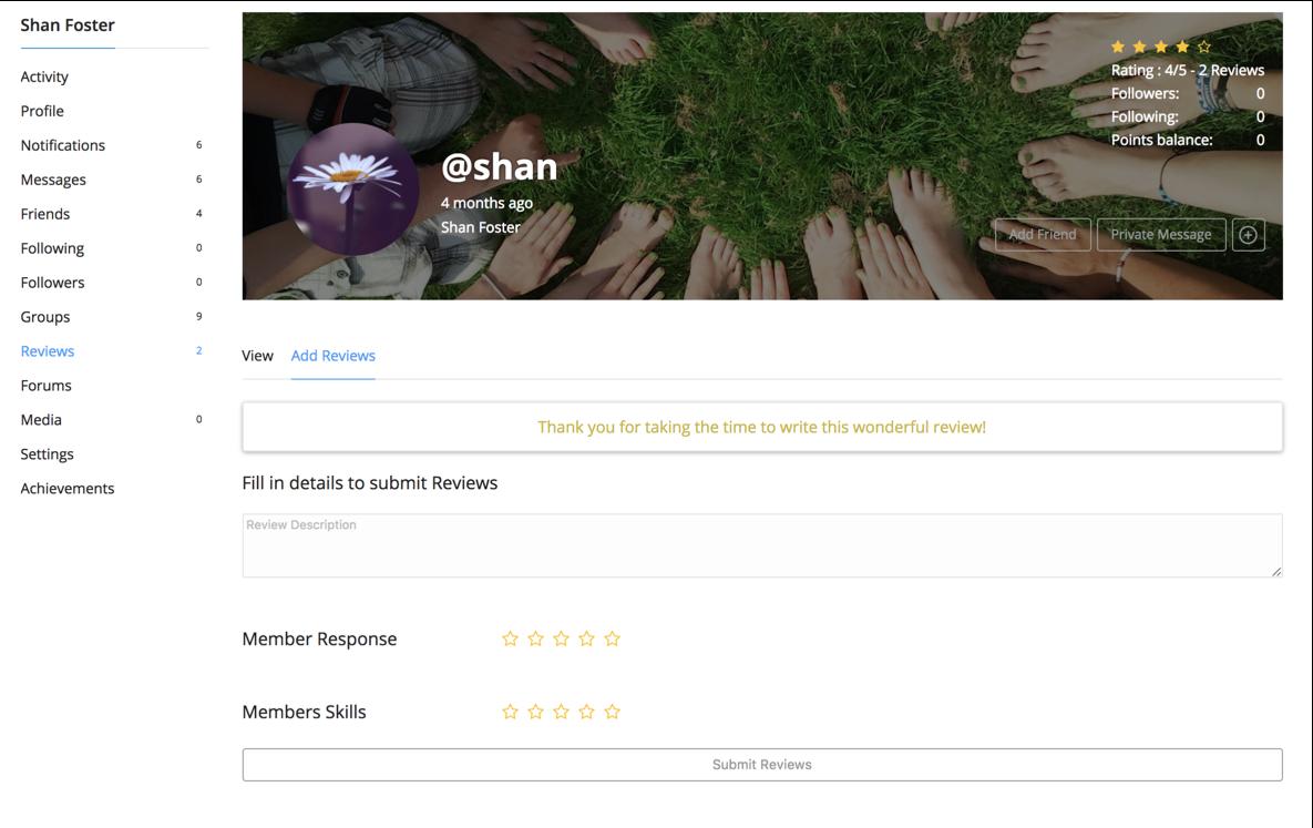 BuddyPress Reviews Plugins