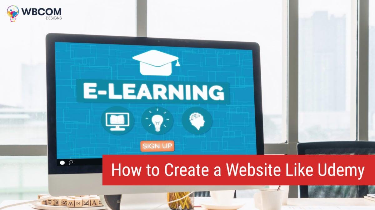 create website like udemy - Wbcom Designs