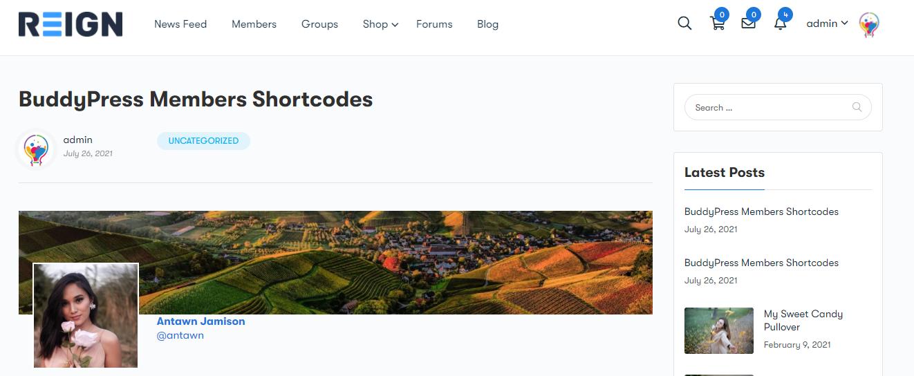 Members Shortcode