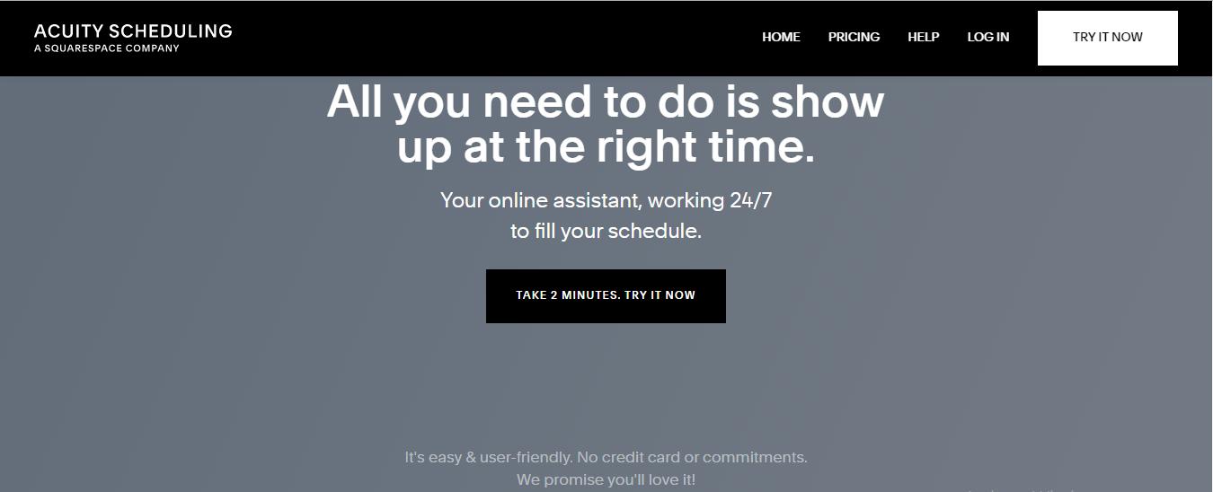 Acuity scheduling, Online scheduling software