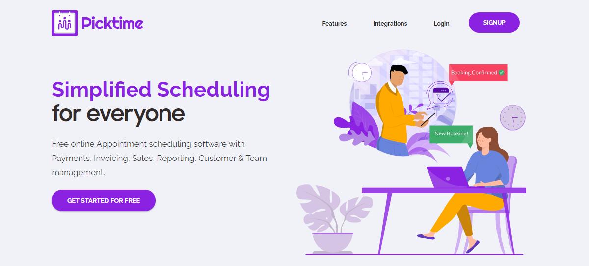Picktime, Online scheduling software