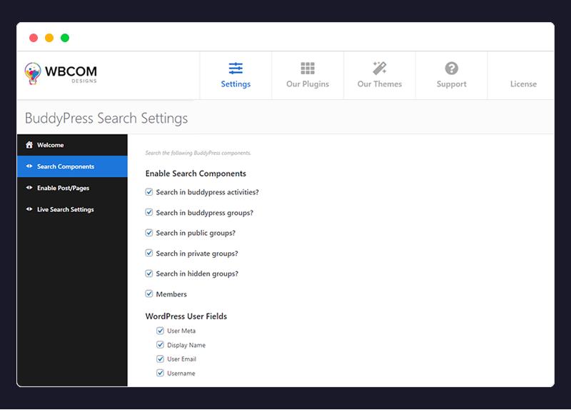 BuddyPress Search Plugin