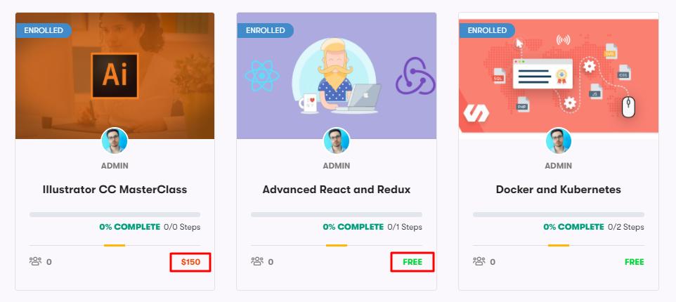 course access mode, Related Courses Add-on for WordPress LMS
