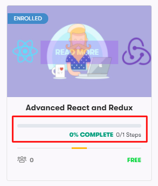 course progress bar, Related Courses Add-on for WordPress LMS