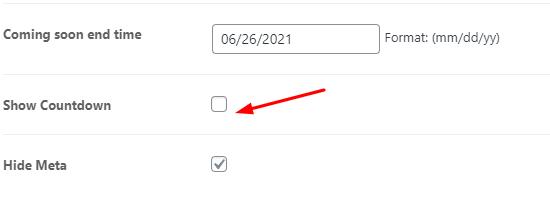 hide countdown