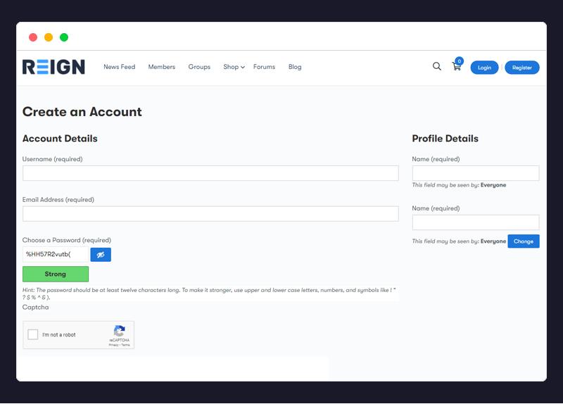 reCaptcha for BuddyPress and WooCommerce