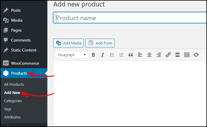 Adding products to your online store