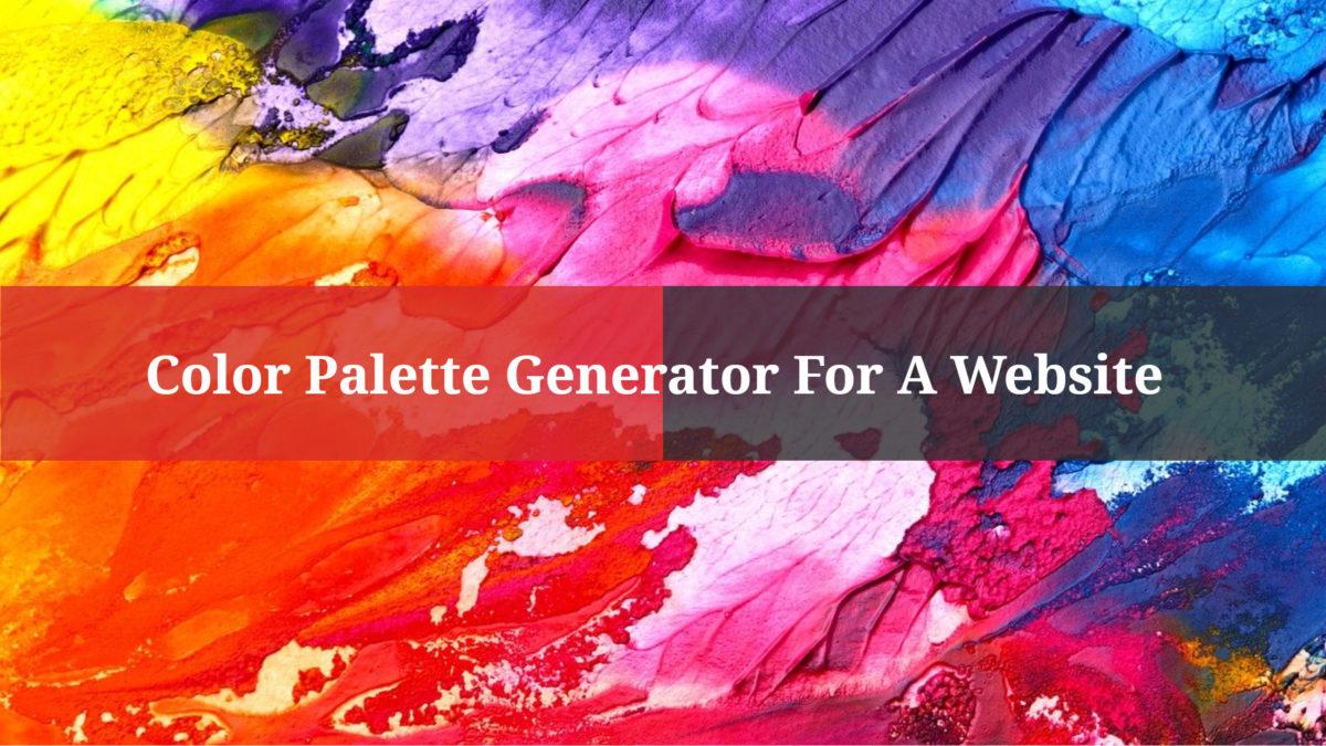 Color Palette Generator For A Website