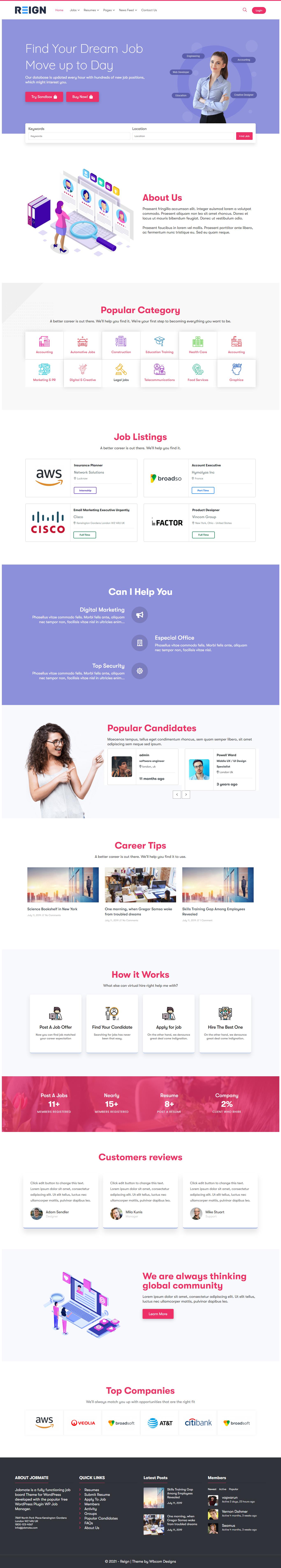 Job Listing WordPress Theme