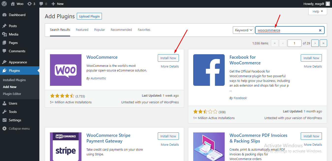 Search for WooCommerce