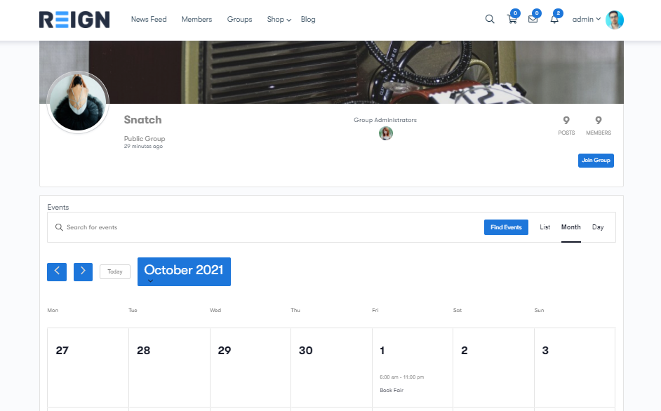Add Events to a BuddyPress Site