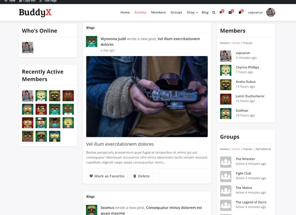 Blog Posting Activities