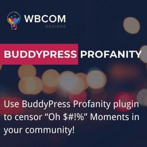BuddyPress-Profanity