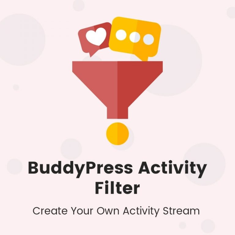 BuddyPress Activity Filters