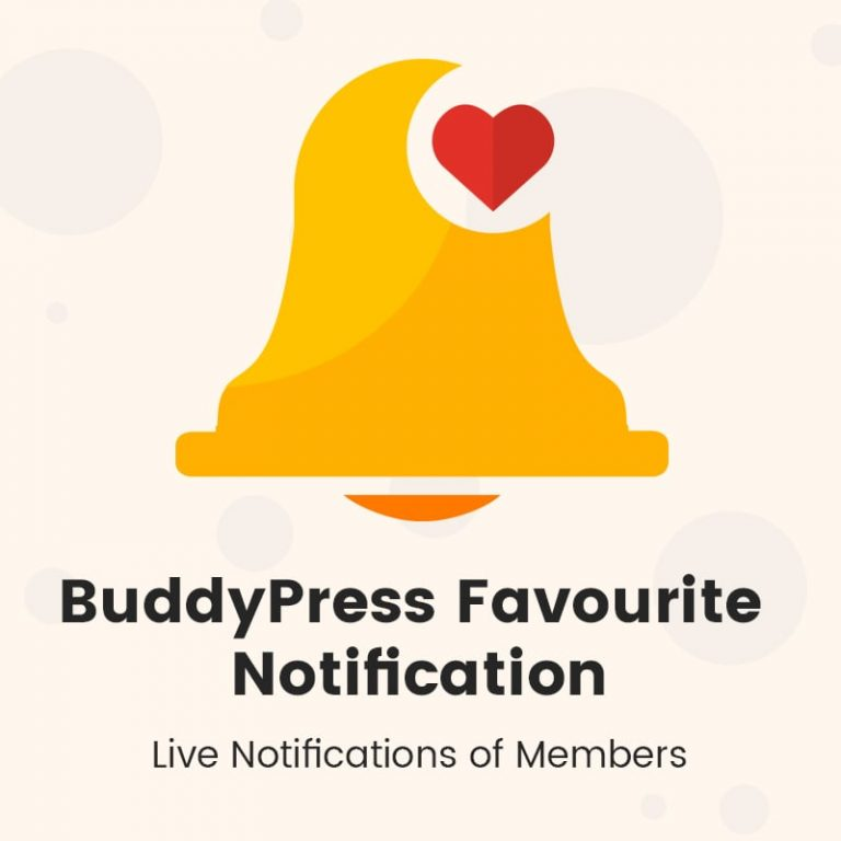 BuddyPress Favourite Notification