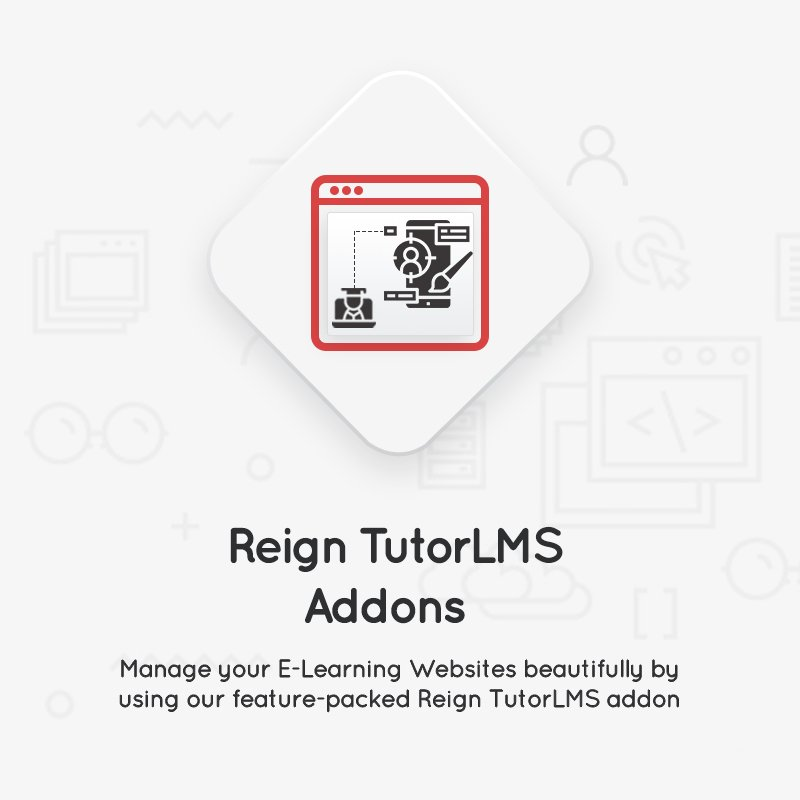 Reign TutorLMS Addon
