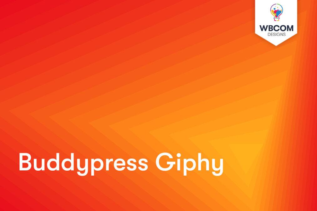 BuddyPress Giphy 1 - Wbcom Designs