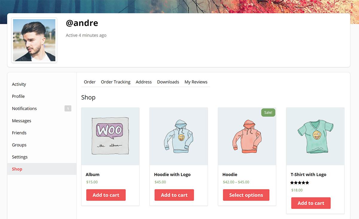 BuddyPress WooCommerce Integration